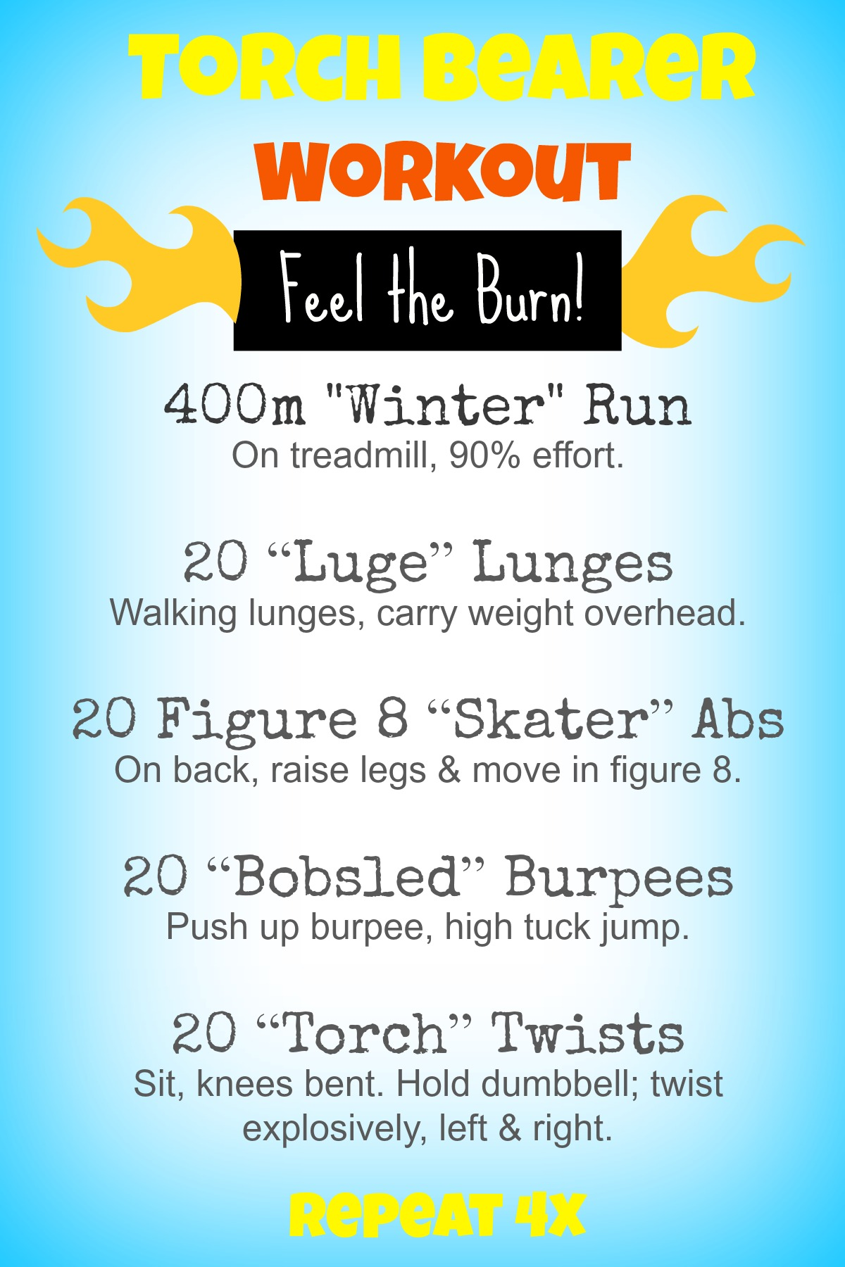 Torch Bearer Workout
