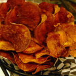 Baked Spicy Sweet Potato Chips