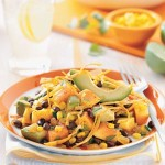 Tropical Fusion Salad with Spicy Tortilla Ribbons Recipe