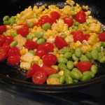 Eat Your Fresh Veggies Day this Saturday – Corn, Edamame, Grape Tomato Trifecta Recipe