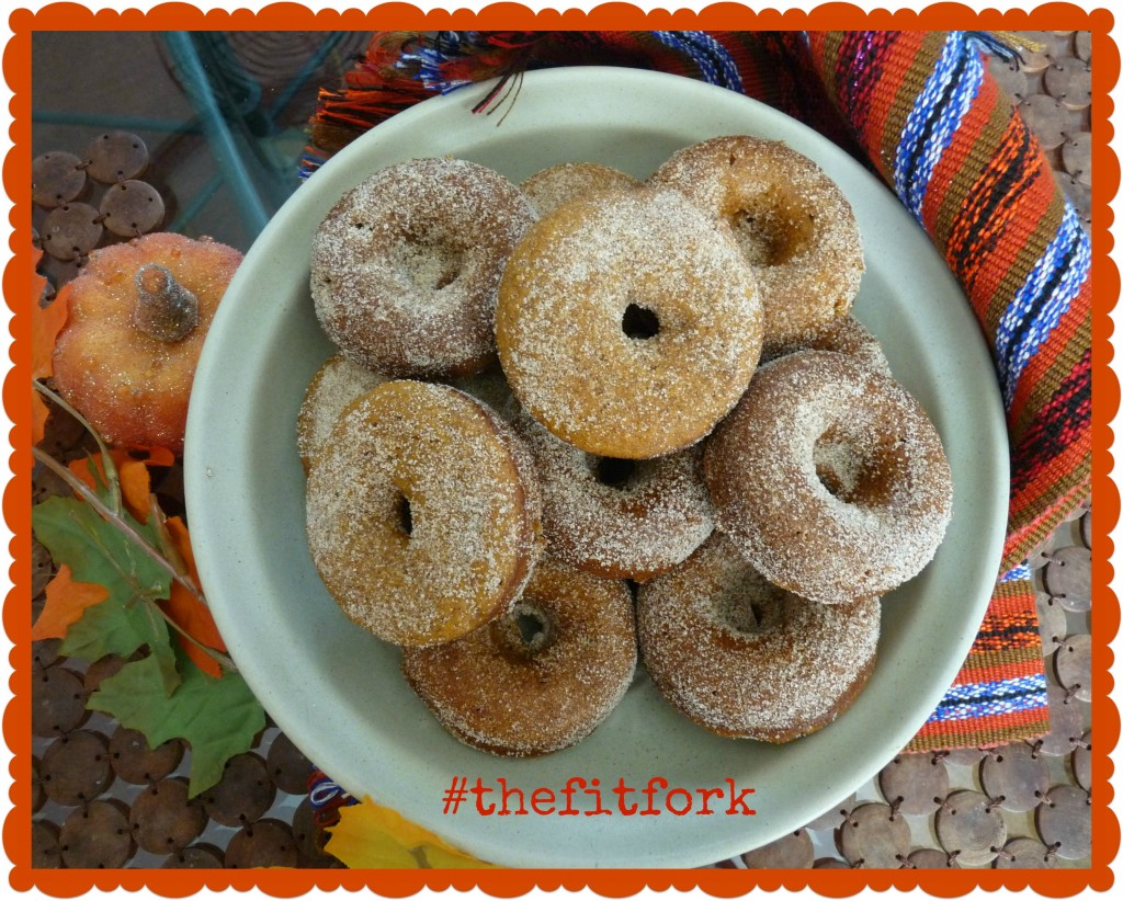 baked pumpkin protein donuts