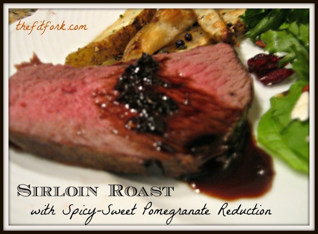 beef sirloin roast with pomegranate sauce tenderloin