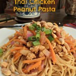 Noodle Night! Thai Chicken Peanut Pasta Recipe