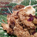 Plethora of Pears? Try this Cranberry-Ginger Pear Crumble Recipe