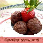 jennifer fisher - thefitfork.com - chocolate strawberry protein donut holes