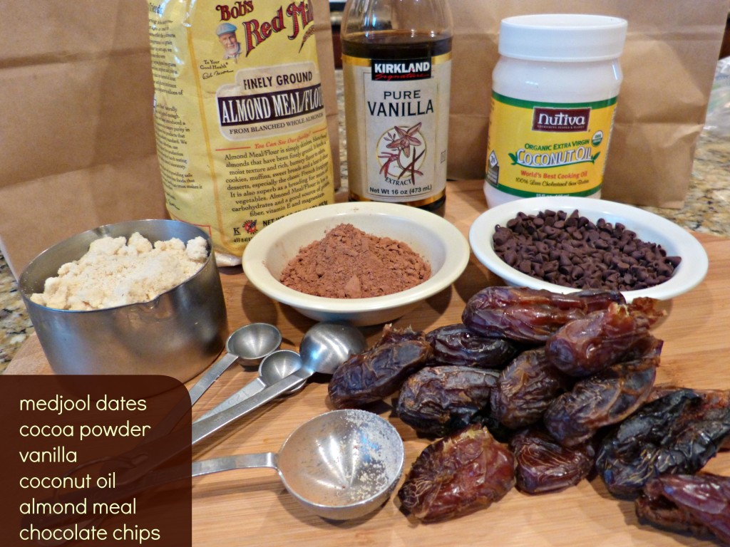 chocolate date candy bar bites ingredient