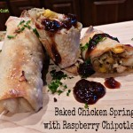 Take-Out Makeover – Baked Chicken Spring Rolls with Raspberry Chipotle Sauce
