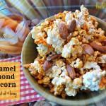 Movie Night Manna – Crunchy Caramel Almond Popcorn with Coconut Oil & Honey