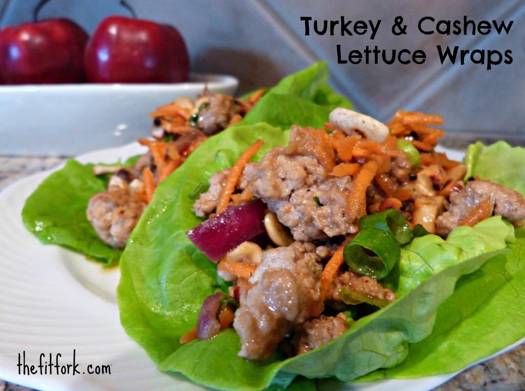 jennifer fisher - thefitfork.com - turkey cashew lettuce wraps
