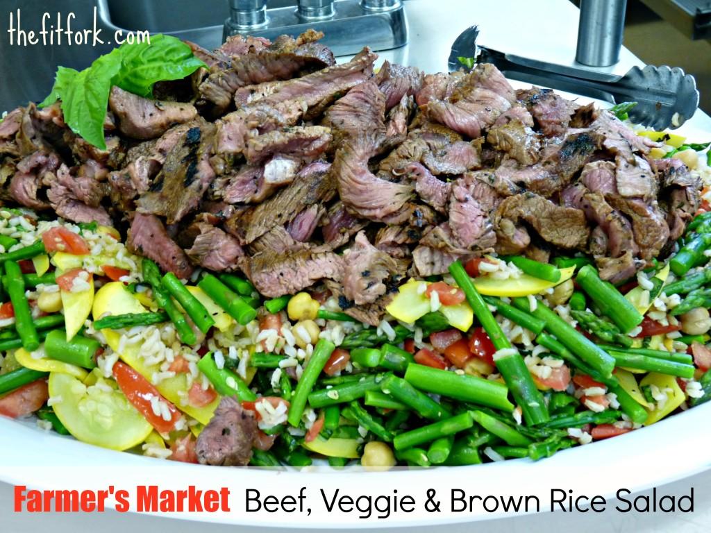 jennifer fisher - thefitfork.com - farmers market beef veggie salad