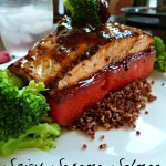 Superfoodie: Spicy Sesame Salmon on Seared Watermelon