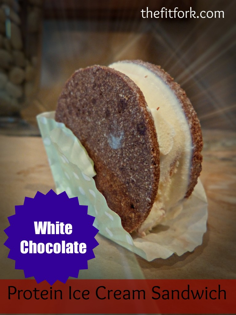 jennifer fisher - thefitfork.com - white chocolate protein ice cream sandwich