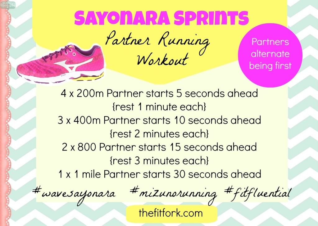 jennifer fisher - thefitfork.com - mizuno wave sayonara running workout final