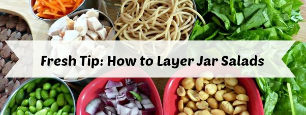 how to layer jar salads