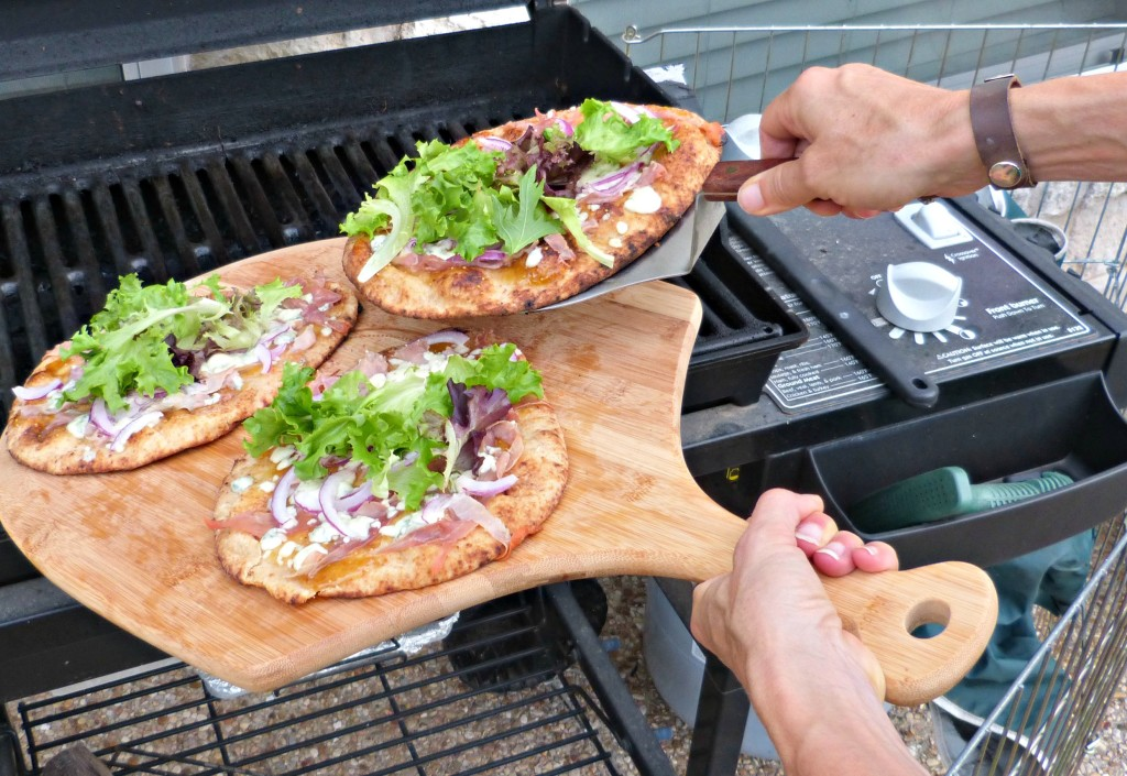 jennfer fisher fig blue cheese prosciutto pizza grill on board