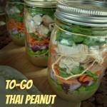 To-Go Thai Peanut Chicken Jar Salads & Tips on Salad Layering
