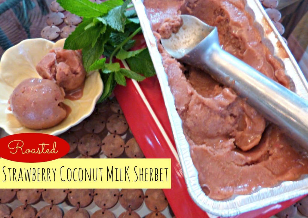 jennifer fisher - thefitfork.com - roasted strawberry coconut mile sherbet 1