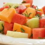 Melon with Serrano Mint Syrup Recipe & How to Pick a Ripe Watermelon