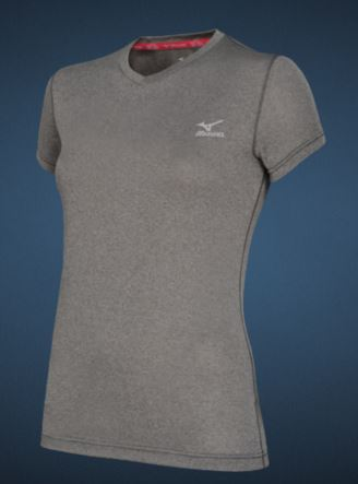 mizuno inspire tee light grey