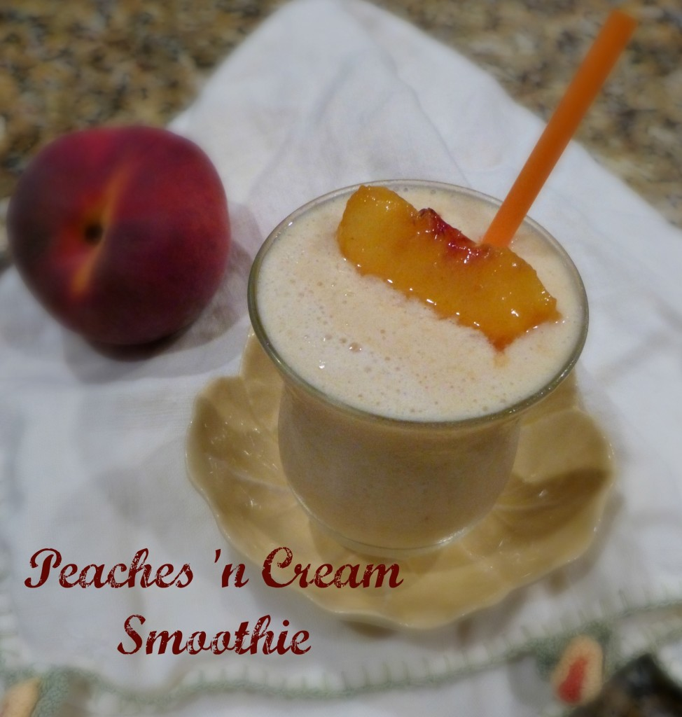 jennifer fisher thefitfork.com peaches n cream smoothie