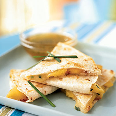 Peach and Brie Quesidillas from Cooking Light