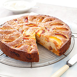 Peach Upside-Down Almond Cake - from America's Test Kitchen