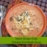 Never too Hot for Hatch Green Chile Chicken Enchilada Soup!