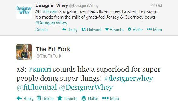 smari designer whey tweet