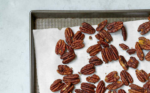 Spiced Pecans, a great afternoon snack from The Runner's World Cookbook.