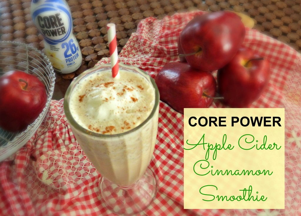 Apple Cider Smoothie made with Core Power Protein Shake.