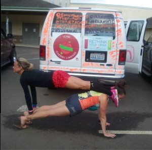 hood to coast planking with emily
