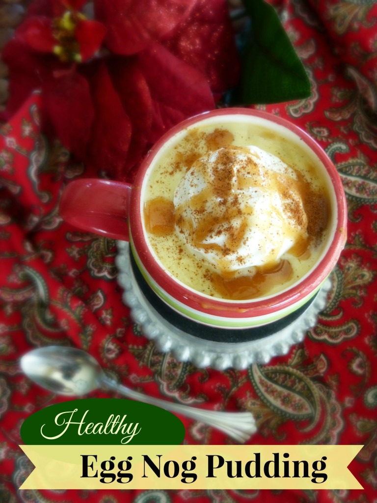 jennifer fisher thefitfork healthy egg nog pudding text