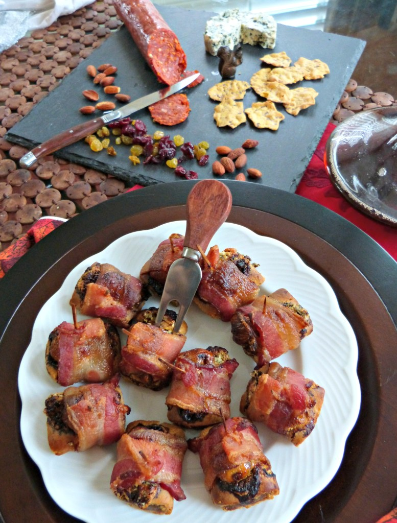 blue cheese bacon fig newton appetizer