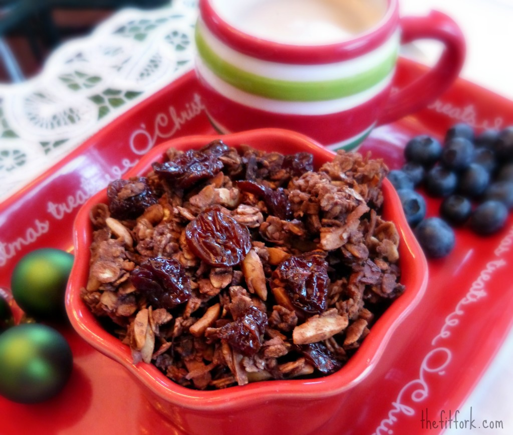 jennifer fisher thefitfork.com choco cherry protein granola 1