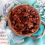 Christmas Cravings | Choco-Cherry Protein Granola #Recipe