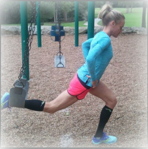 Playground Swing Lunges - try 3 sets of 20!
