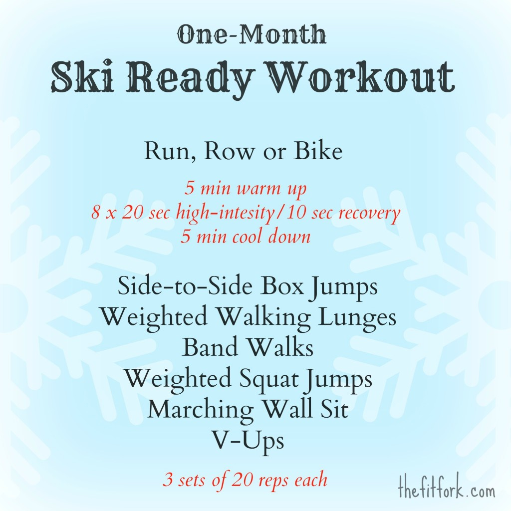 thefitfork ski ready workout thefitfork