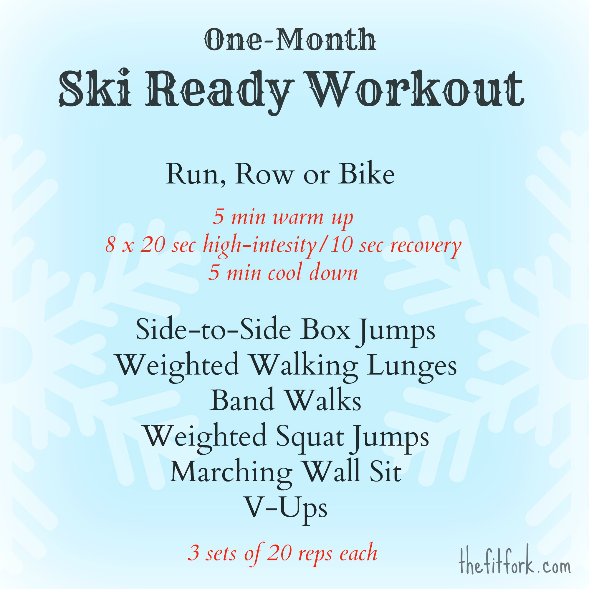 Thefitfork Ski Ready Workout