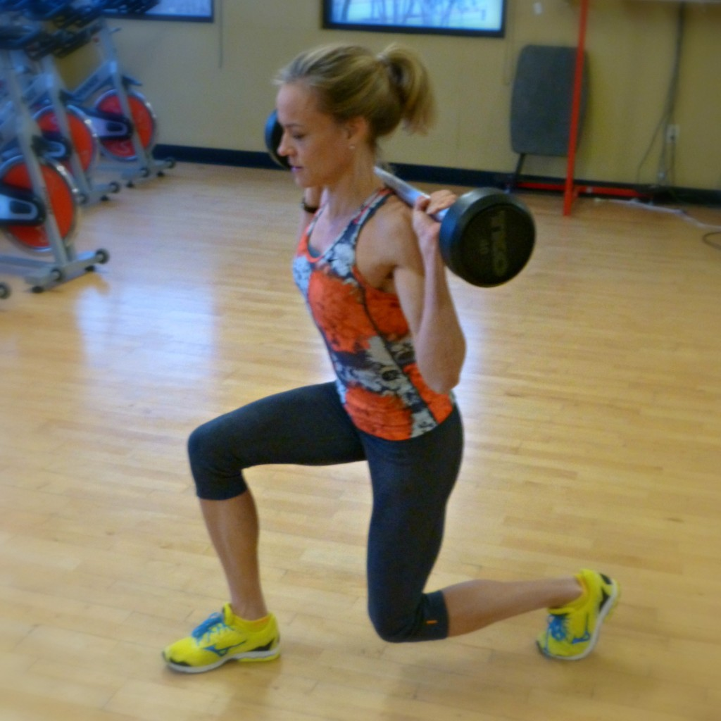 thefitfork weighted walking lunge