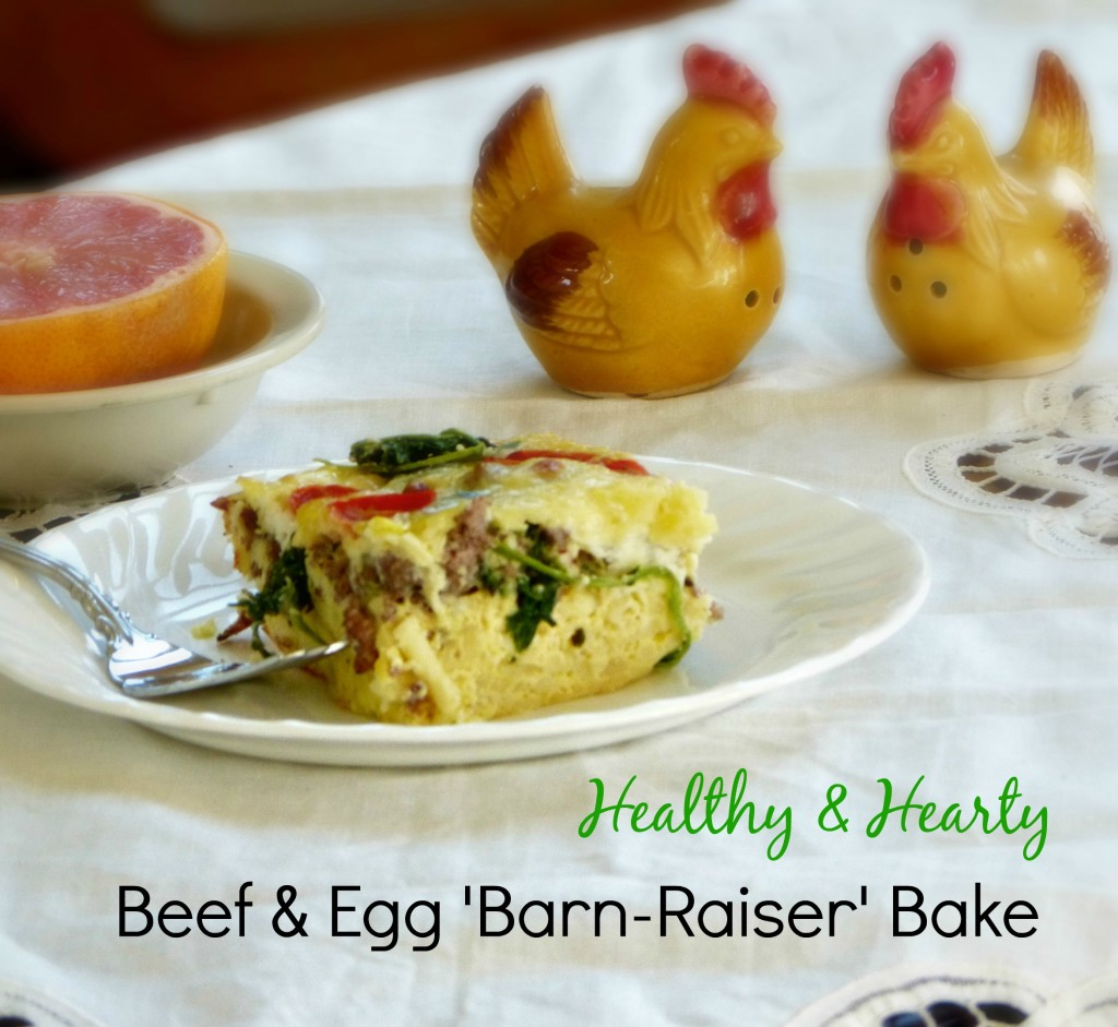 healthy egg and beef casserole