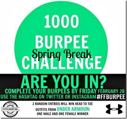 Fitfluential burpee challenge