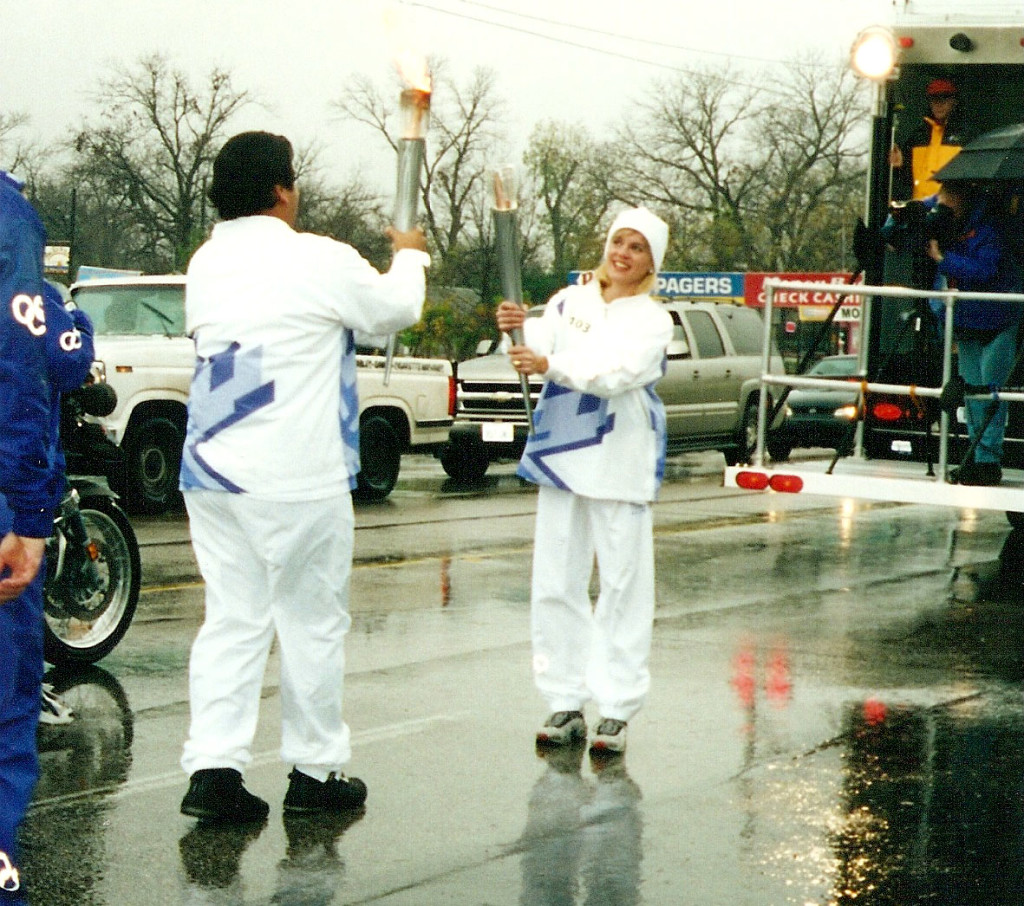 Jennifer Fisher Salt Lake City Torch Bearer relay in austin