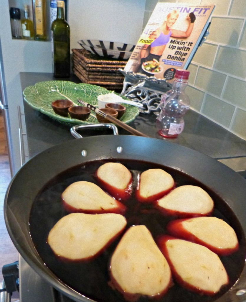 poached pears pomegranate