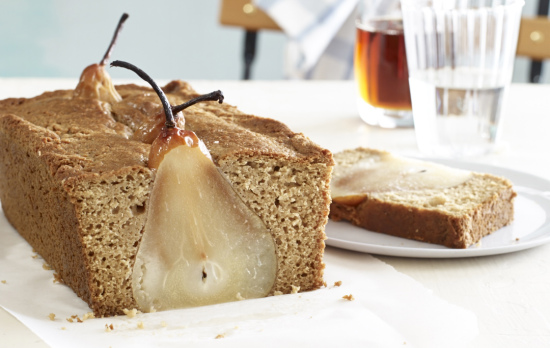Poached Pear Bread cooking light