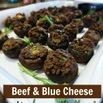 Beef & Blue Cheese Mushroom Buttons & Burpees