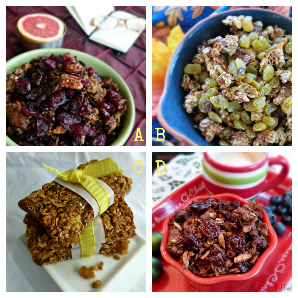 homemade granola and granola bars