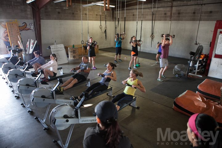 crossfit rowing