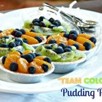 "Football Food | Healthy ""Team Colors"" Pudding Pies Recipe"