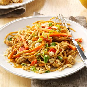 Thai Peanut Chicken Noodles by Jennifer Fisher