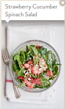 strawberry cucumber spinach salad